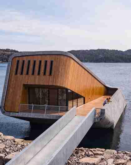 Under underwater restaurant in Southern Norway