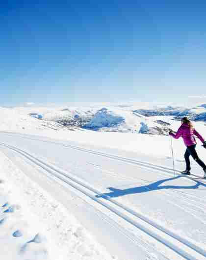 Cross-country skiing at Hovden