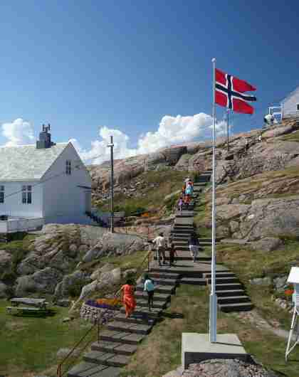 The lighthousekeepers house and the lighthouse at Lindesnes