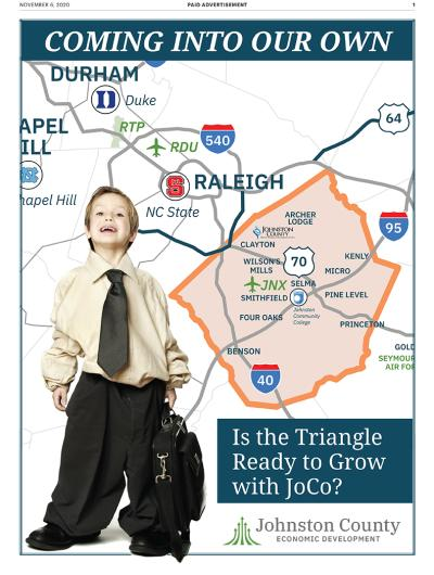 Johnston County Economic Development Insert in Triangle Business Journal.