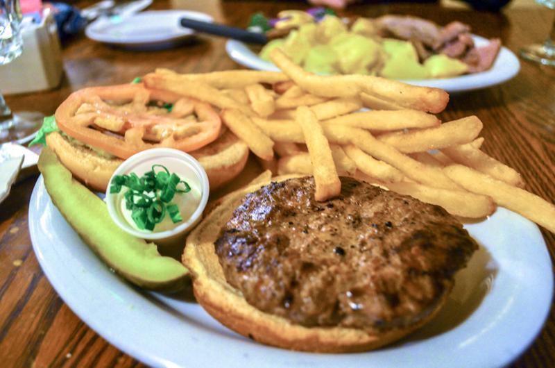 Lamb burger from Irish Lion