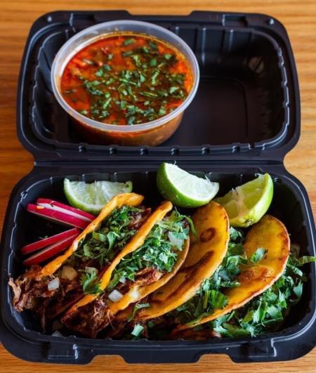 Birria tacos from Senor's Chile