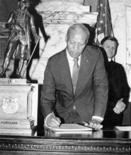 State Senator Aris T. Allen at the state legislature in Annapolis, MD.