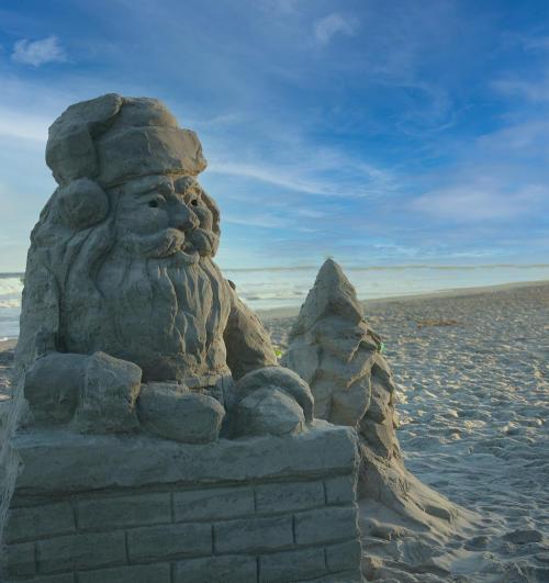 Santa Sandcastle