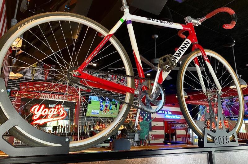 Bicycle decoration inside of Yogi's