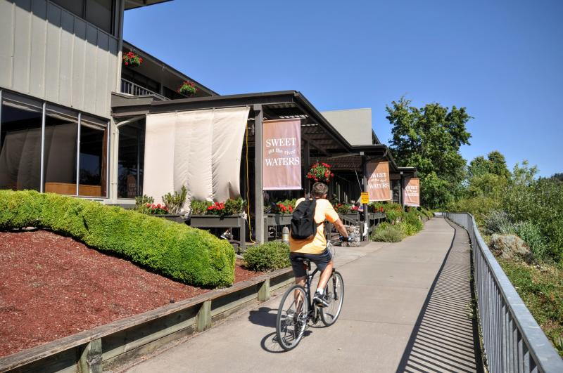 Cycling on the Willamette River Bike Path by Brandon Fralic
