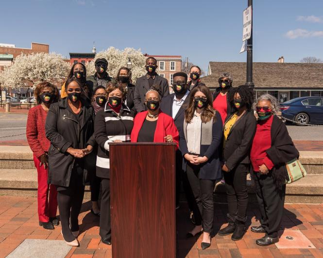 City leaders and organizers of the Annapolis Juneteenth Festival.