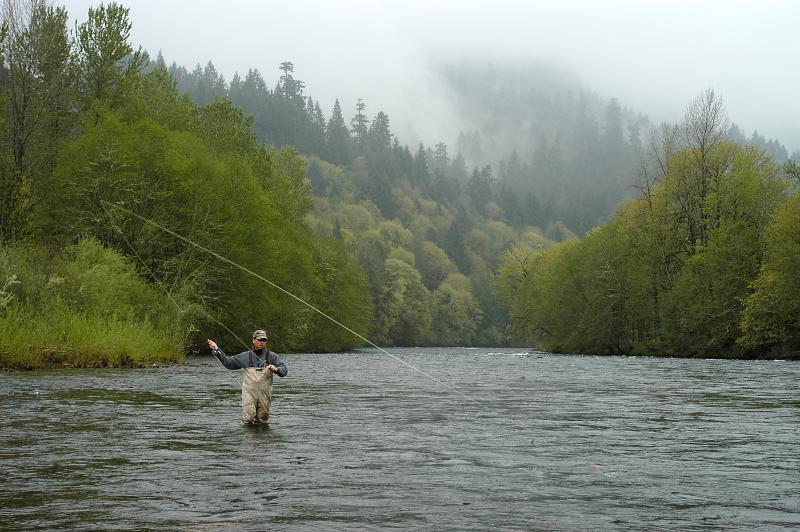 Fly Fishing on the McKenzie by Alex Morley