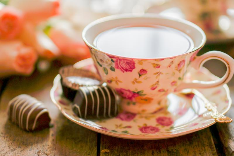 Tea and Chocolates for Valentine's Day
