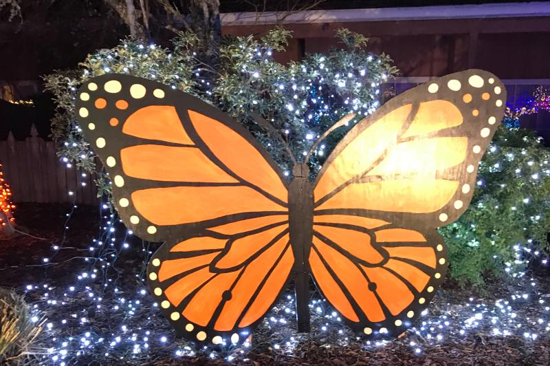 Village Green Holiday Lights Butterfly