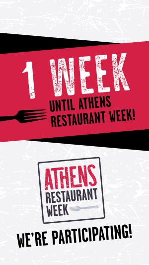 Restaurant Week 1 week countdown-stories
