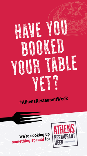 Restaurant Week booked table-stories