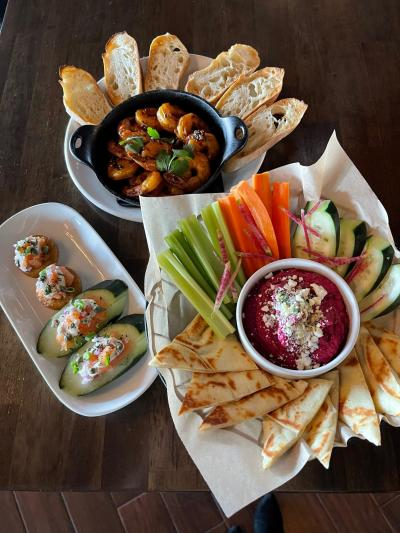 Assorted colorful Fado Appetizers