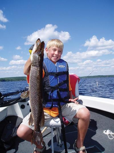 Boy & Pike fish