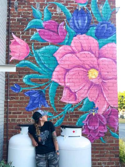 Street Art at Selma Jewelry by artist Lacey Crime.