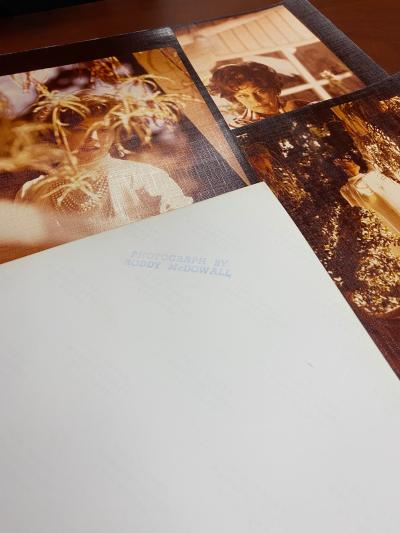 Several copies of photographs of Ava Gardner taken by Roddy McDowall with the back of one showing his photo stamp.