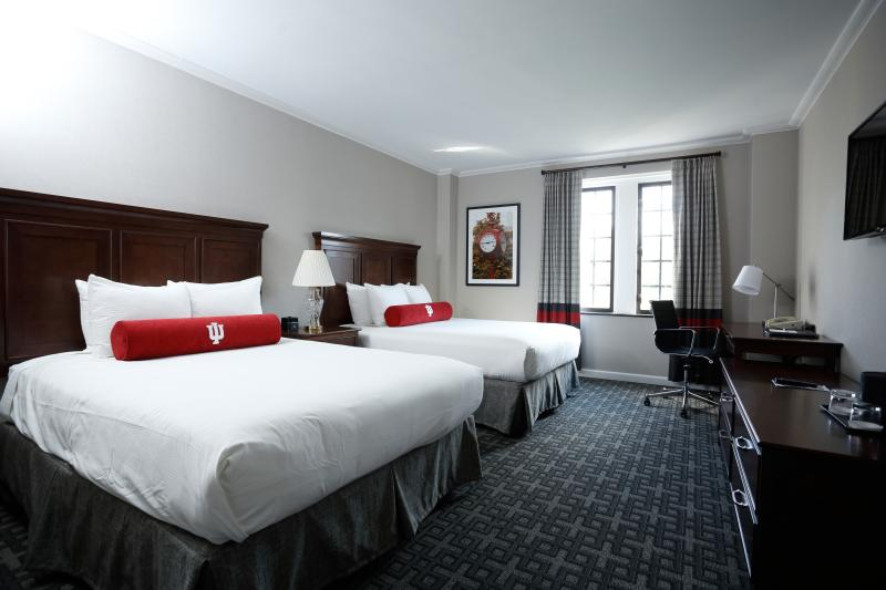 Double queen room at the Biddle Hotel