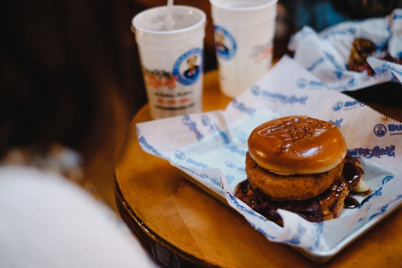 Sweet Lou burger from BuffaLouie's
