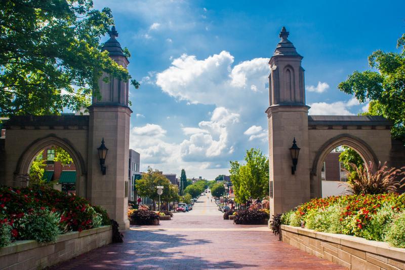 Sample Gates looking down Kirkwood Avenue