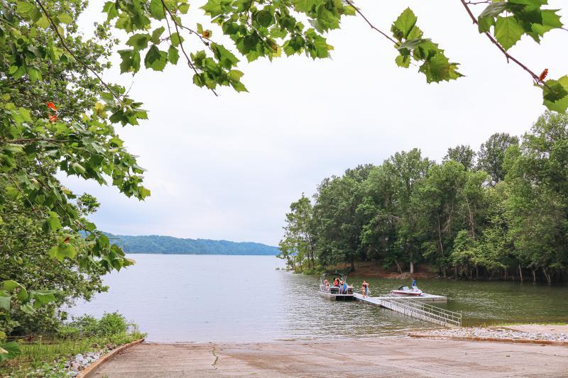 Boat launch ramp at Hardin Ridge Recreation Area