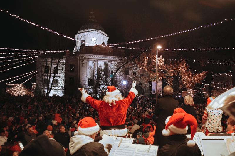 Canopy of Lights Santa In Bloomington, IN