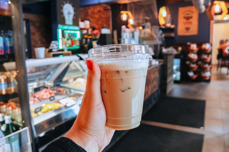 An iced latte from Brilliant Coffee Company