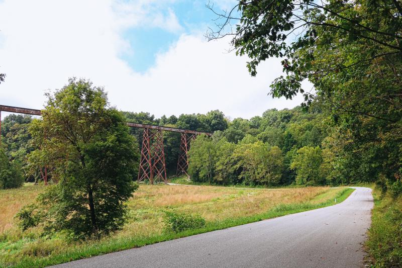 Tulip Trestle viaduct in Greene County