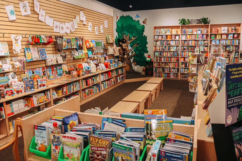 Children's section at Morgenstern Books