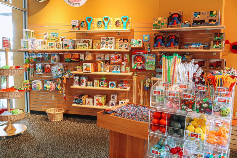 Children's items for sale at the WonderLab Museum gift shop