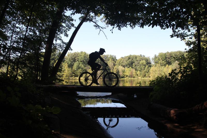 Man Mountain Biking Wapehani In Bloomington, IN