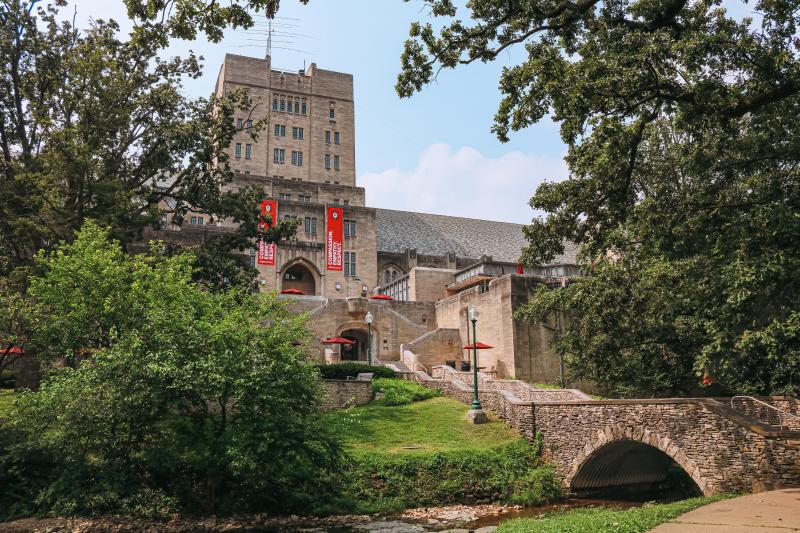 Indiana Memorial Union from Dunn Meadow