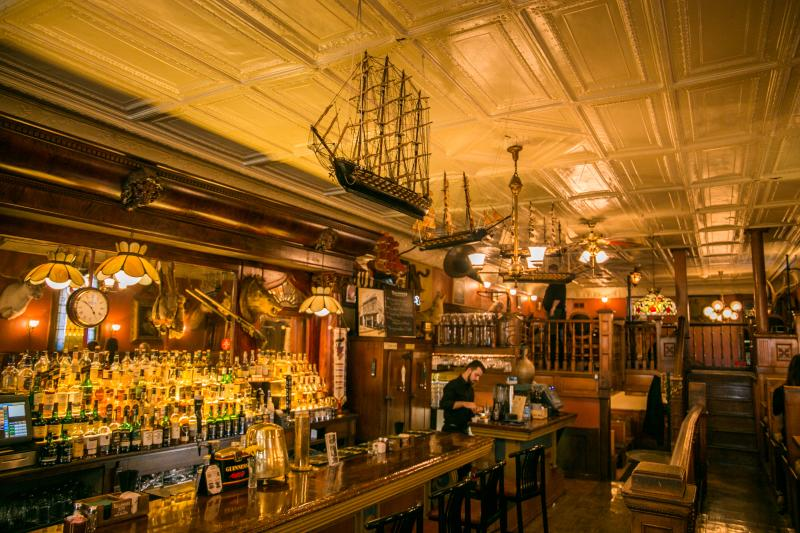 The bar inside of The Irish Lion