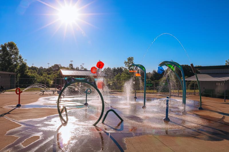 Splash pad at Karst Farm Park