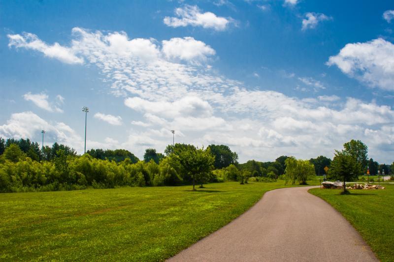 Greenway and grassy areas at Karst Farm Park