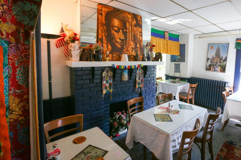 Dining area inside Anyetsang's Little Tibet