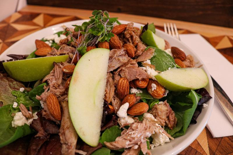 Duck confit salad from NOURISH Bar