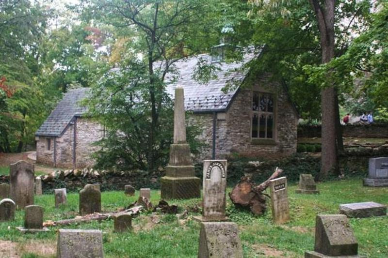 Dunn Cemetery behind Beck Chapel at Indiana University