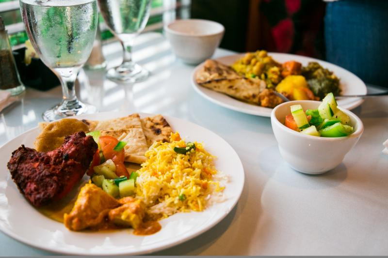 Two plates from Taste of India