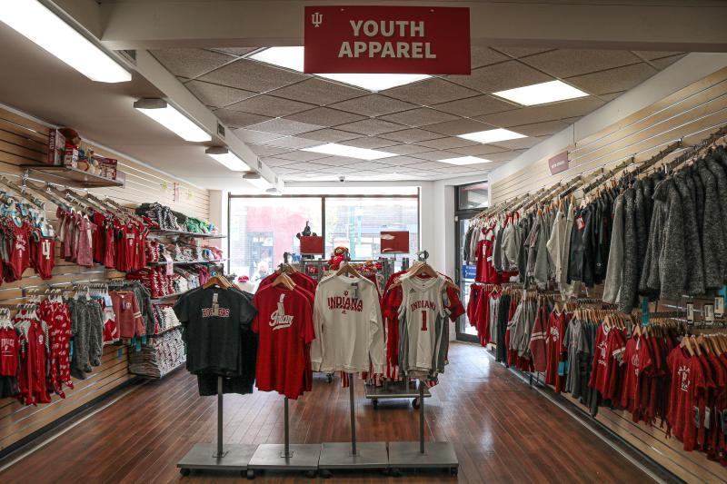 Kids apparel section at The Indiana Shop