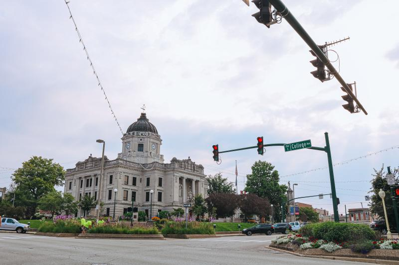 The Square and Courthouse during a summer morning