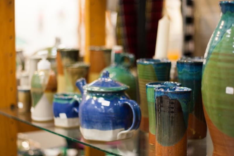 Handmade Items On Display At Hand Gallery In Bloomington