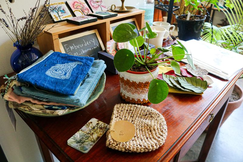 Various home goods on display at Yarrow