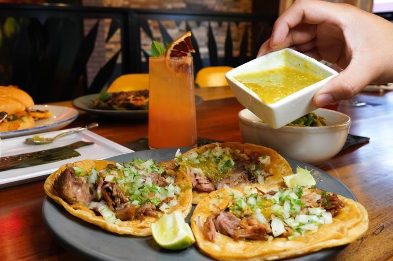 Tacos from La Una Cantina