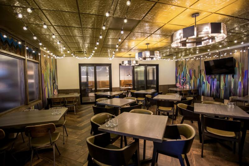 Social Cantina's private dining room