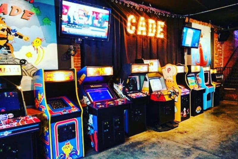 Arcade games at The Cade