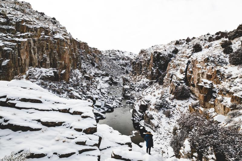 Winter in Casper, Wyoming features many winter wonderlands for skiing, hiking, and showshoeing adventures.