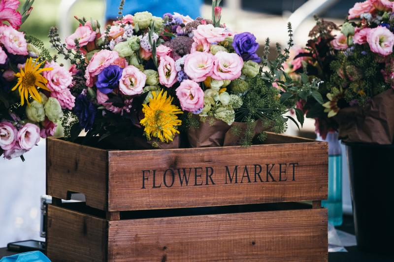 fresh flowers at Downtown Market