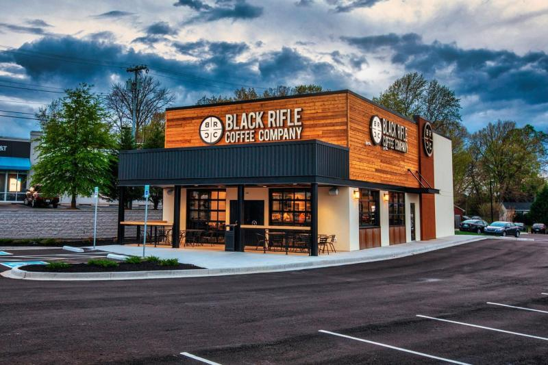 exterior building of Black Rifle Coffee Co.