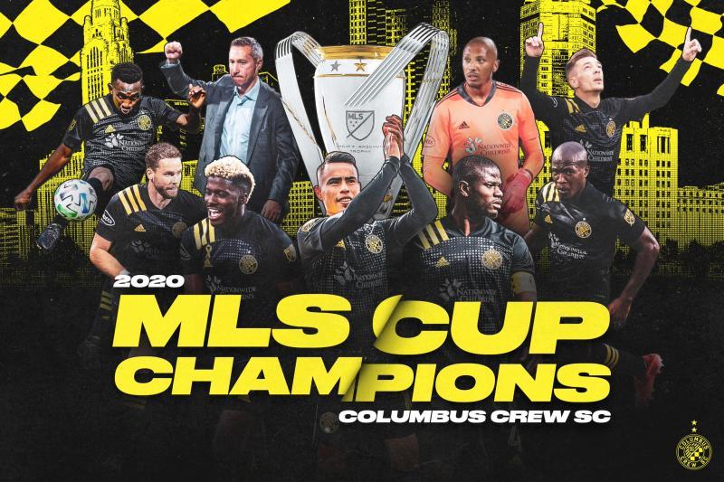 2020 Columbus Crew SC MLC Cup Champions Graphic