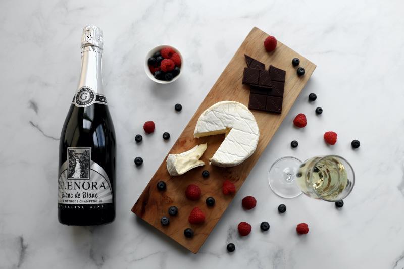 Glenora Blanc de Blanc Cheese Pairing - Alexandra Jones